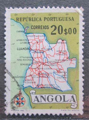 Poštovní známka Angola 1955 Mapa Mi# 399