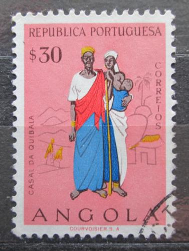 Poštovní známka Angola 1957 Rodina z Quibala Mi# 405