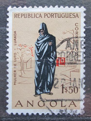 Poštovní známka Angola 1957 Žena z Luandy Mi# 409