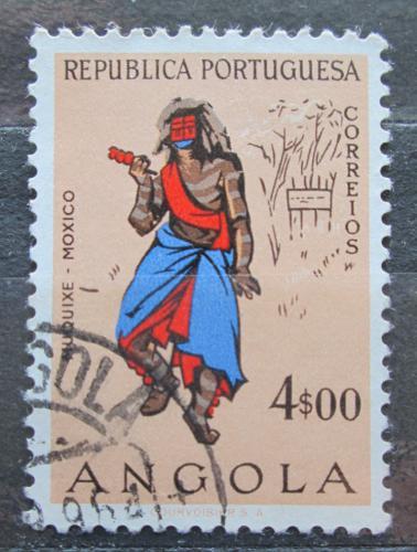 Poštovní známka Angola 1957 Taneèník z Muquixe Mi# 411