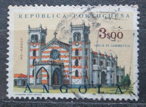 Poštovní známka Angola 1963 Kostel, Camabatela Mi# 502