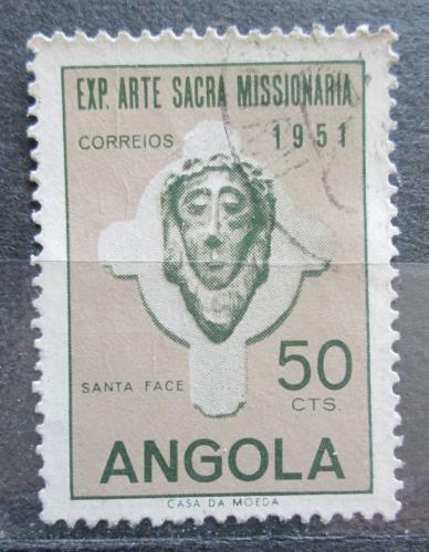 Poštovní známka Angola 1952 Hlava Krista Mi# 366