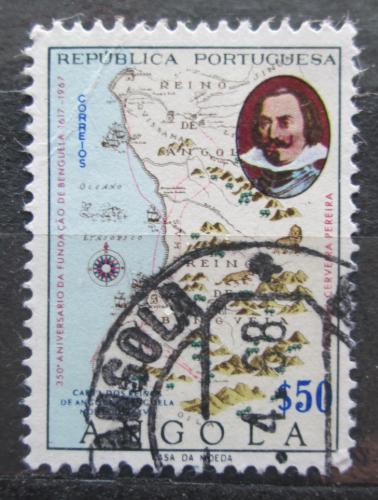 Poštovní známka Angola 1967 Stará mapa Mi# 542