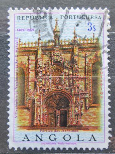 Poštovní známka Angola 1969 Portál kláštera jeronýmù Mi# 562