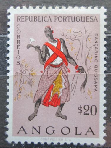 Poštovní známka Angola 1957 Taneèník z Quissama Mi# 404