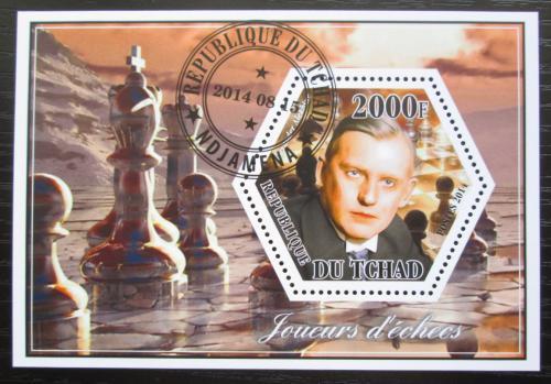 Poštovní známka Èad 2014 Alexander Aljechin, šachy Mi# N/N
