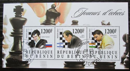 Poštovní známky Benin 2015 Slavní šachisti Mi# N/N