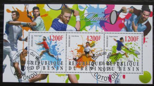 Poštovní známky Benin 2015 Slavní tenisti Mi# N/N