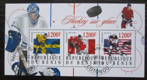 Poštovní známky Benin 2015 Slavní hokejisti Mi# N/N