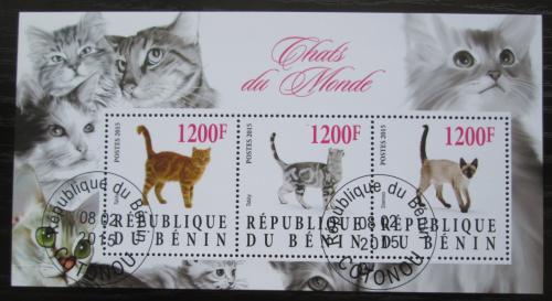 Poštovní známky Benin 2015 Koèky Mi# N/N