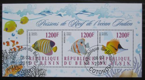 Poštovní známky Benin 2015 Ryby Mi# N/N