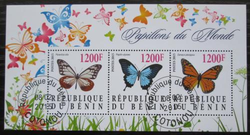 Poštovní známky Benin 2015 Motýli Mi# N/N