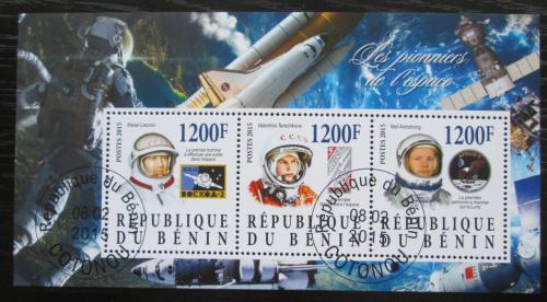 Poštovní známky Benin 2015 Slavní kosmonauti Mi# N/N