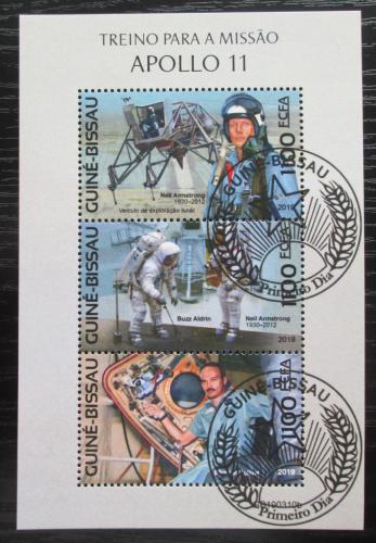Poštovní známky Guinea-Bissau 2019 Apollo 11, prùzkum Mìsíce Mi# N/N