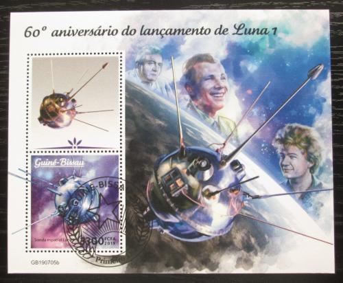 Poštovní známky Guinea-Bissau 2019 První sondy na Mìsíci, 60. výroèí Mi# N/N