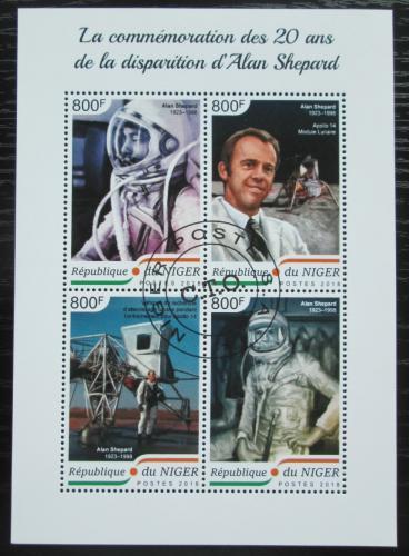 Poštovní známky Niger 2018 Alan Shepard, kosmonaut Mi# 5978-81 Kat 13€