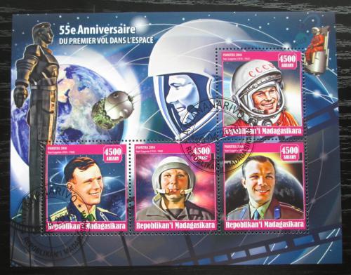 Poštovní známky Madagaskar 2016 Jurij Gagarin Mi# N/N