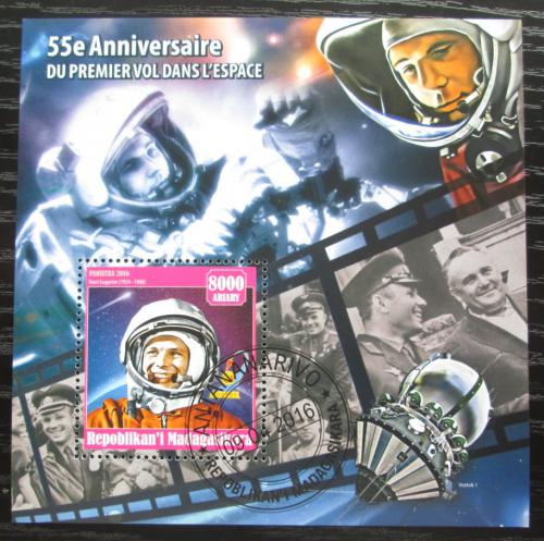 Poštovní známka Madagaskar 2016 Jurij Gagarin Mi# N/N