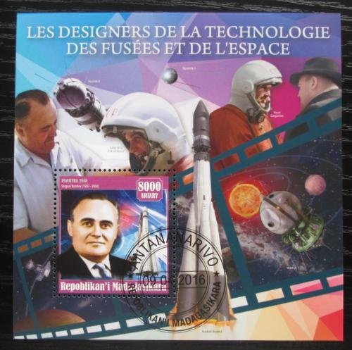 Poštovní známka Madagaskar 2016 Sergej Koroljov Mi# N/N
