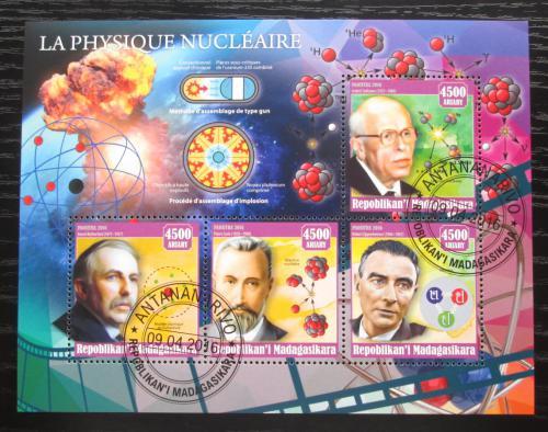 Poštovní známky Madagaskar 2016 Slavní fyzici Mi# N/N