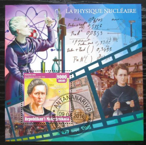 Poštovní známka Madagaskar 2016 Marie Curie-Sklodowská Mi# N/N