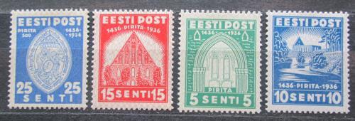 Poštovní známky Estonsko 1936 Klášter Pirita, 500. výroèí TOP Mi# 120-23 Kat 20€