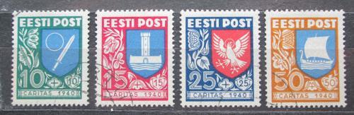 Poštovní známky Estonsko 1940 Mìstské znaky TOP SET Mi# 152-55 Kat 100€