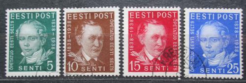 Poštovní známky Estonsko 1938 Osobnosti Mi# 138-41 Kat 18€