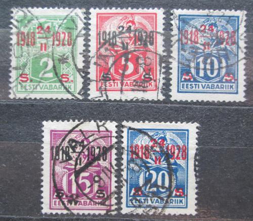 Poštovní známky Estonsko 1928 Nezávislost, 10. výroèí  Mi# 68-72 Kat 7.50€