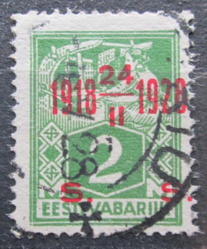 Poštovní známka Estonsko 1928 Nezávislost, 10. výroèí  Mi# 68