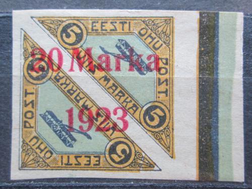 Poštovní známka Estonsko 1923 Letadla neperf. Mi# 44 Ba Kat 45€
