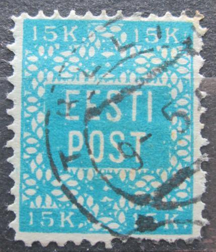 Poštovní známka Estonsko 1918 Nápis perf. RARITA Mi# 2 a Kat 500€
