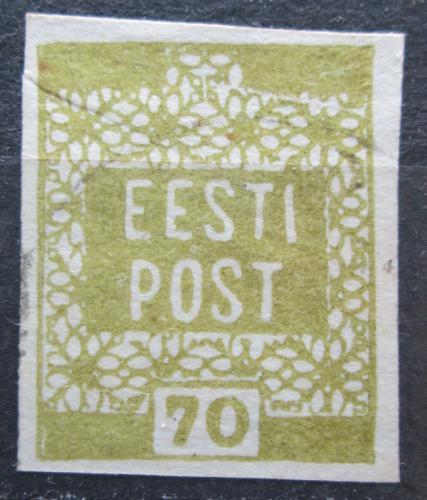 Poštovní známka Estonsko 1919 Nápis Mi# 4