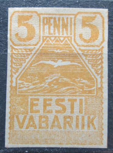 Poštovní známka Estonsko 1919 Racek Mi# 5