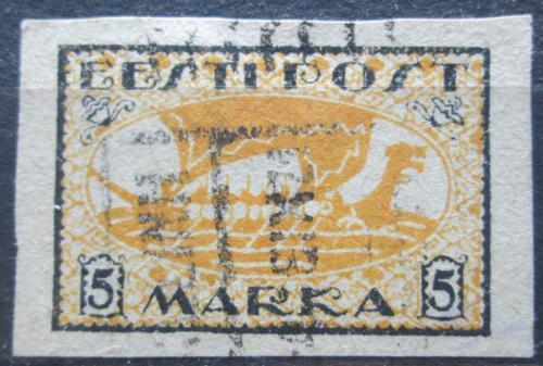 Poštovní známka Estonsko 1920 Vikingská loï Mi# 13 y