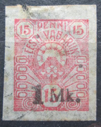 Poštovní známka Estonsko 1920 Slunce pøetisk Mi# 18