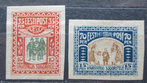 Poštovní známky Estonsko 1920 Váleèní invalidé Mi# 21-22