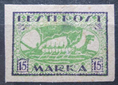 Poštovní známka Estonsko 1920 Vikingská loï neperf. Mi# 23 B Kat 10€