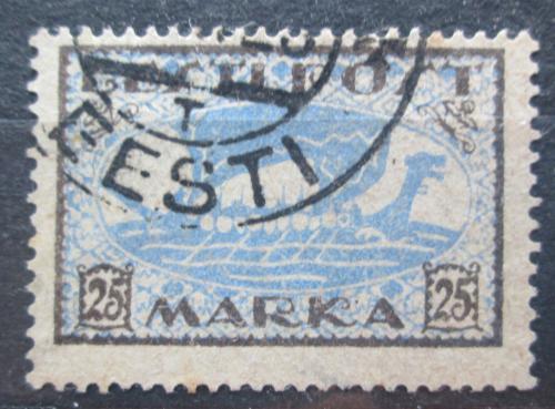 Poštovní známka Estonsko 1922 Vikingská loï Mi# 24 A