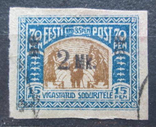 Poštovní známka Estonsko 1920 Váleèní invalidé pøetisk Mi# 26