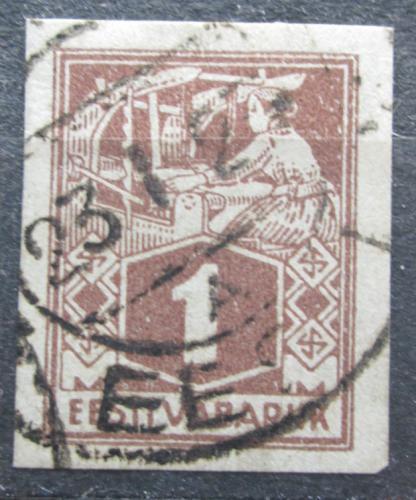 Poštovní známka Estonsko 1923 Tkadlena neperf. Mi# 33 B Kat 14€