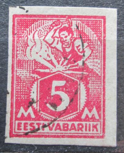 Poštovní známka Estonsko 1922 Kováø neperf. Mi# 37 B Kat 10€