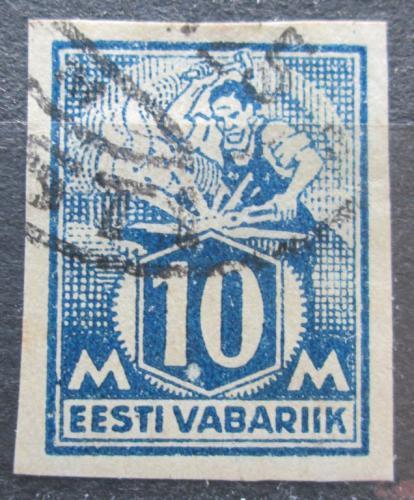 Poštovní známka Estonsko 1922 Kováø neperf. Mi# 39 B Kat 20€