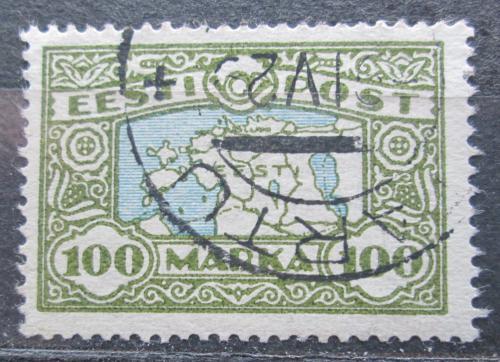 Poštovní známka Estonsko 1923 Mapa Estonska Mi# 40