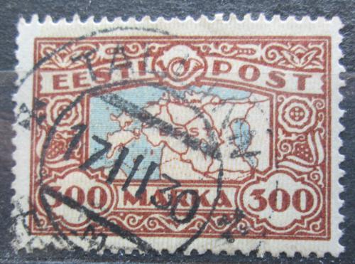 Poštovní známka Estonsko 1924 Mapa Estonska Mi# 54 Kat 22€