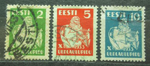 Poštovní známky Estonsko 1933 Bùh Vanemuine Mi# 99-101