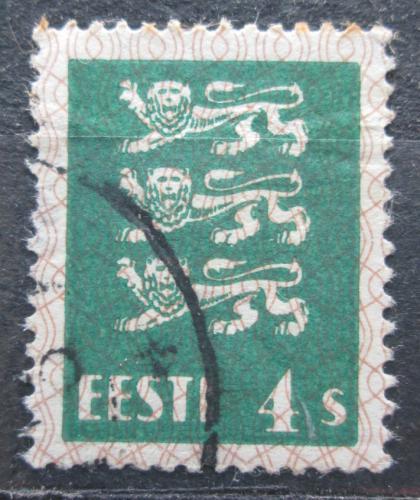 Poštovní známka Estonsko 1929 Státní znak Mi# 76