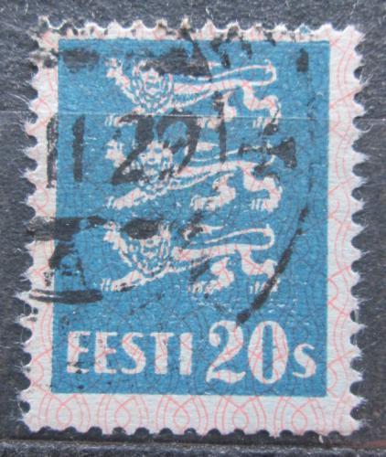 Poštovní známka Estonsko 1928 Státní znak Mi# 82
