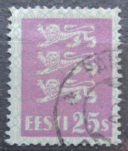 Poštovní známka Estonsko 1929 Státní znak Mi# 83