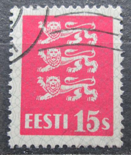 Poštovní známka Estonsko 1935 Státní znak Mi# 106